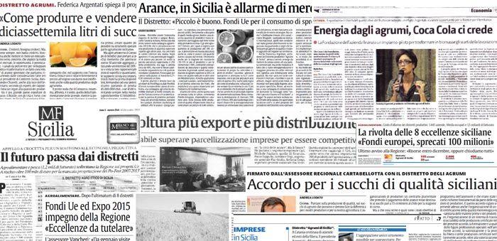Distretto Produttivo Agrumi di Sicilia - Rassegna Stampa