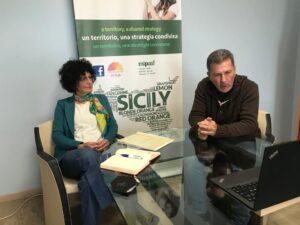 DAS, il Distretto Agrumi di Sicilia, in videoconferenza con il ministro Patuanelli, foto 2 (sx la presidente Argentati e il consigliere Ancona)