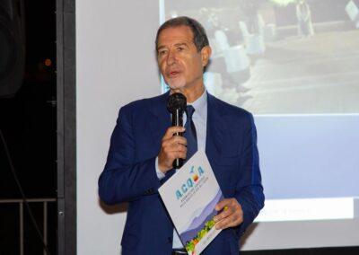 Nello Musumeci durante la presentazione dei risultati del progetto A.C.Q.U.A.