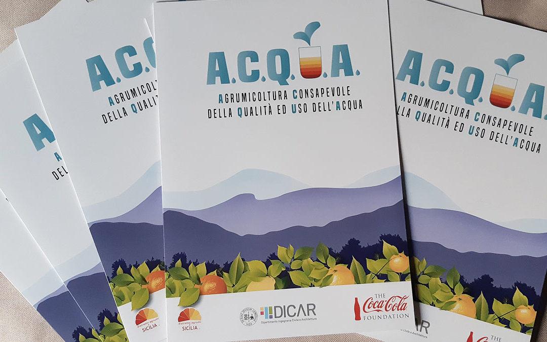 """Al via il progetto """"A.C.Q.U.A."""", mappatura, droni e impianto pilota per l'uso sostenibile delle risorse idriche"""